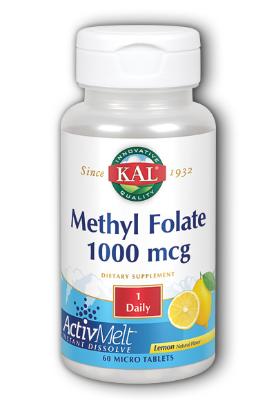 Methyl Folate ActivMelt (Lemon), 60 ct Loz