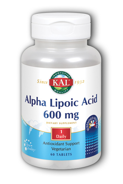 Alpha Lipoic Acid SR, 60 Tab 600 mg