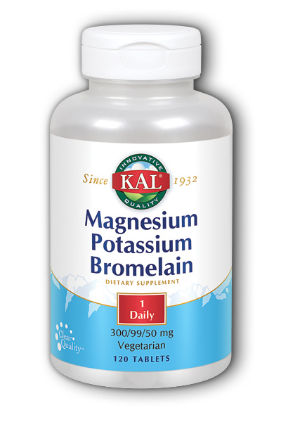 Magnesium Potassium Bromelain 120 Tablets from Kal