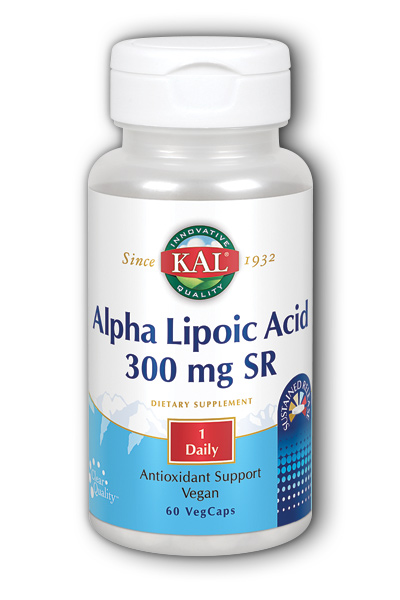 Alpha Lipoic Acid 300mg Time Released 60 ct from Kal