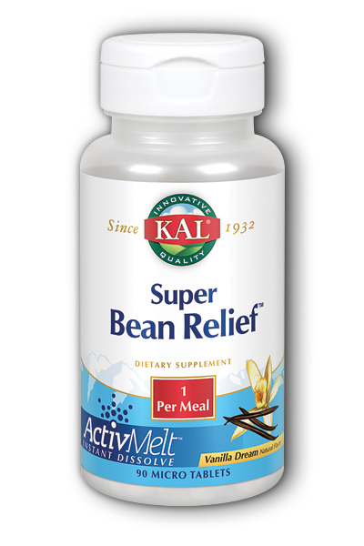Super Bean Relief Vanilla Dream Flav 90 Micro Tablets from Kal
