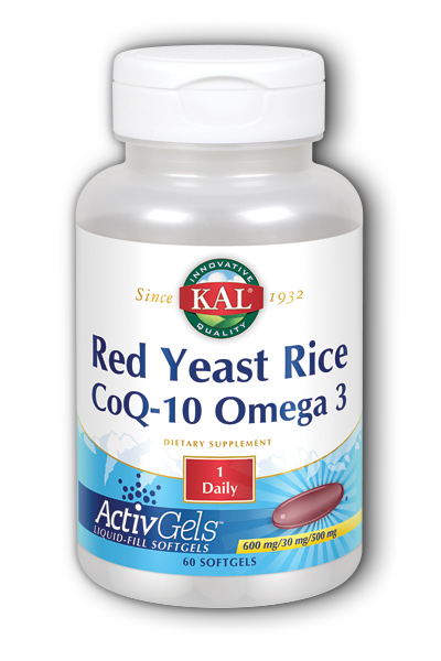 Kal: Red Yeast Rice, CoQ10, Omega-3 60 Sg