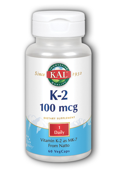 K-2 MK-7 100mcg 60 Tablets from KAL