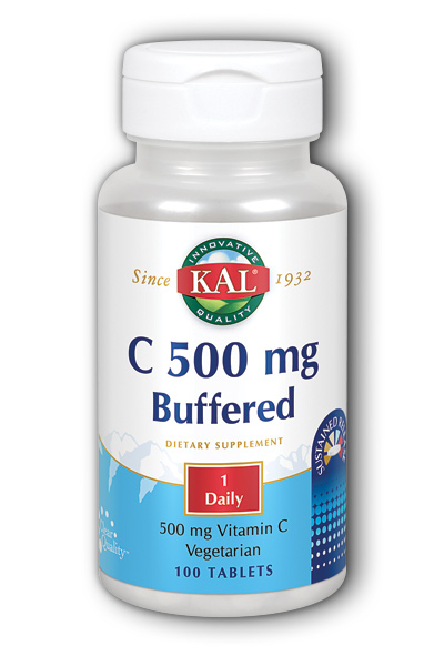 Kal: C-500 Buffered Sustained Release 100ct 500mg