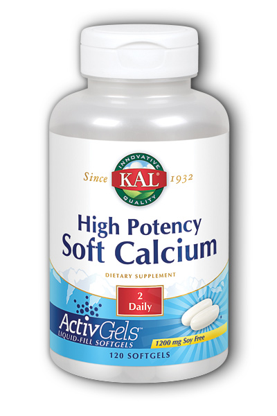 Kal: High Potency Soft Calcium 120ct 1200mg