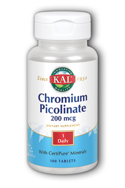 Chromium Picolinate, 100ct 200mcg