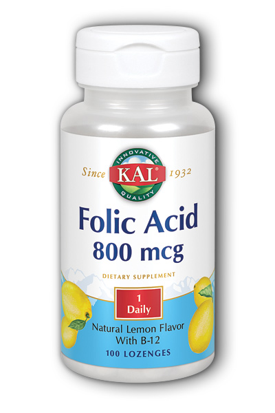 Folic Acid & B-12, 100ct 800mcg