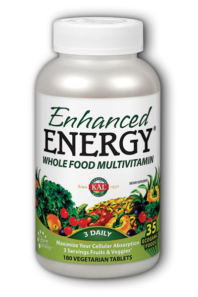 Enhanced Energy with Lutein, 180ct