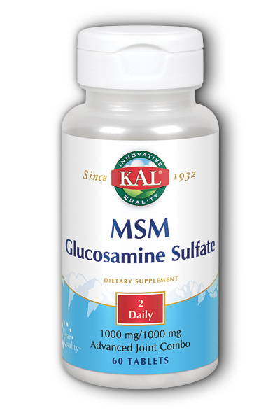 Kal: MSM with Glucosamine Sulfate 60ct