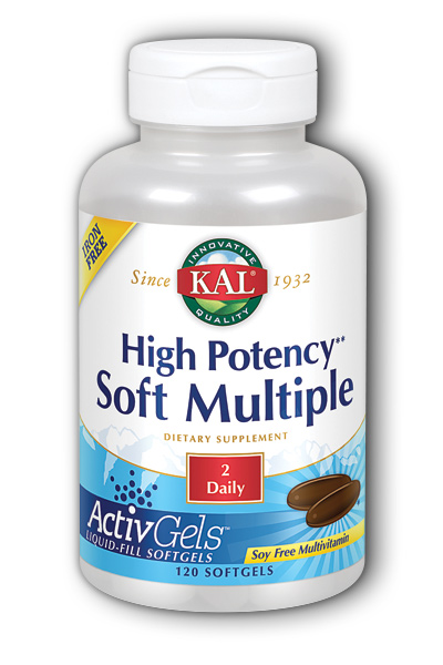 Kal: High Potency Soft Multiple Iron-Free 120ct