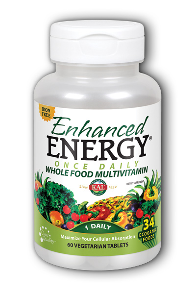 Kal: Enhanced Energy Once Daily Iron Free 60 ct