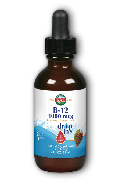 KAL: B-12 Dropins (Grape) 2 oz Liq