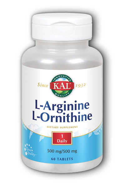 L-Arginine & L-Ornithine, 60ct 1000mg