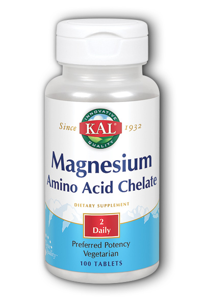 Chelated Magnesium 100ct 220mg from Kal