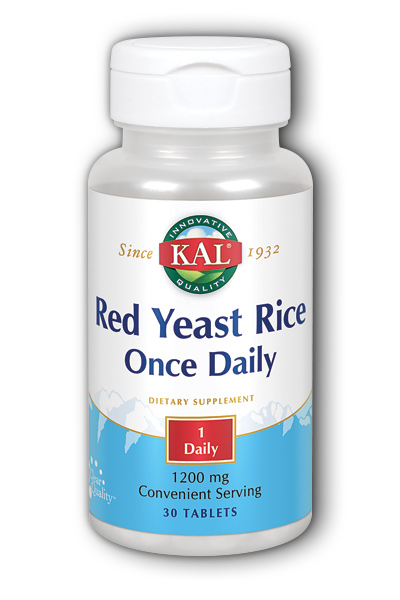 Kal: Red Yeast Rice Once Daily 30ct 1200mg