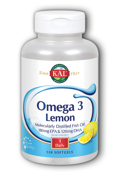 Omega-3 with Natural Lemon Flavor, 120ct 1070mg