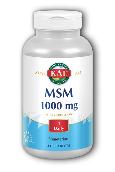 MSM 240ct 1000mg from Kal