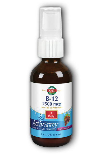 Kal: Vitamin B-12 ActivSpray Grape 2oz 2500mcg