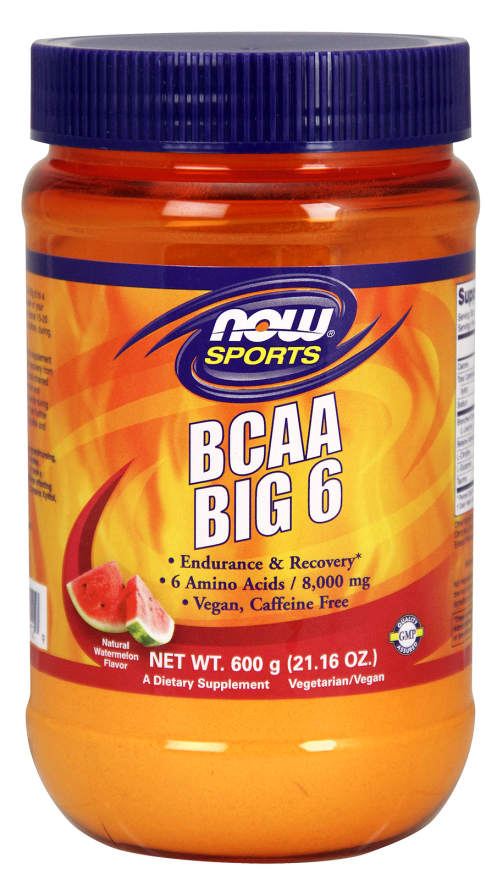 NOW: BCAA Big 6 Powder WaterMelon Flavor 600 Grams