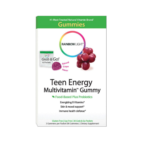 RAINBOW LIGHT: Teen Energy Multivitamin Gummies 30 pkt