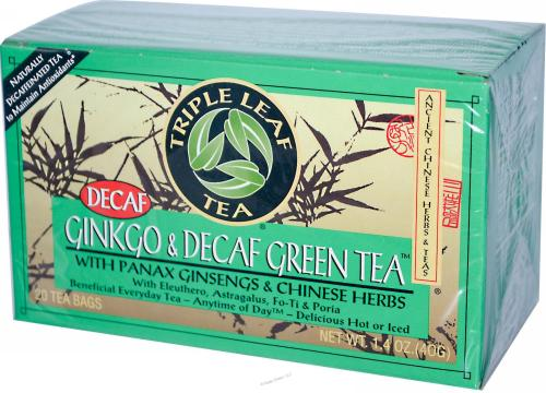 Ginkgo and Decaf Green Tea