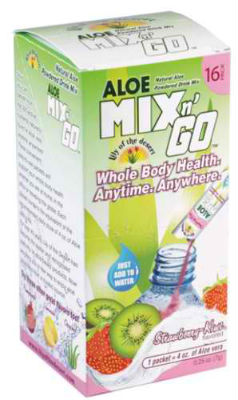 Aloe Mix 'N Go Packets Strawberry Kiwi 16 ct from LILY OF THE DESERT