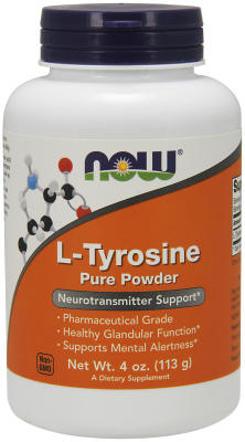 NOW: TYROSINE POWDER  4 OZ 1