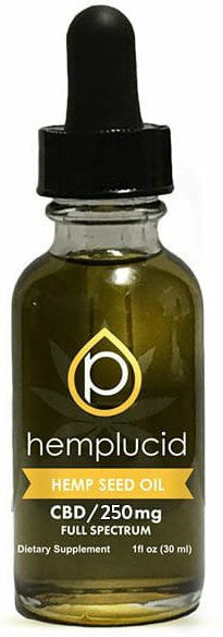 Hemplucid Hemp Seed Oil CBD 250mg