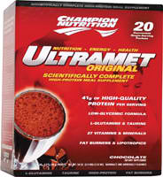 CHAMPION NUTRITION: Ultramet Chocolate 20 PACKS