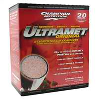 CHAMPION NUTRITION: Ultramet Strawberry 20 PACKS