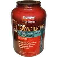 CHAMPION NUTRITION: Super Heavy Weight Gainer Double Fudge Chocolate 6.6 lb