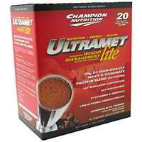 CHAMPION NUTRITION: Ultramet Lite Packets Chocolate 20 PACKS