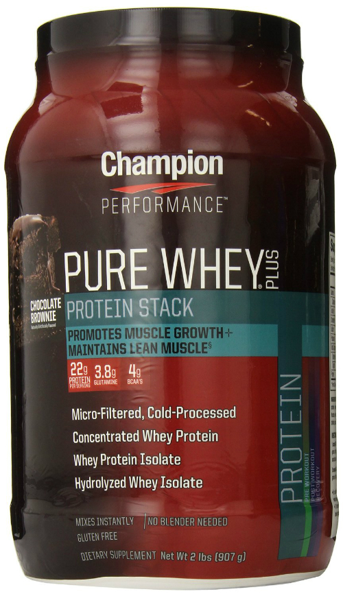 CHAMPION NUTRITION: Pure Whey Plus Chocolate Brownie 2 lb