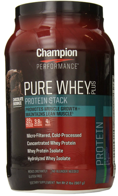 pure whey plus chocolate brownie 2 lb from. Black Bedroom Furniture Sets. Home Design Ideas