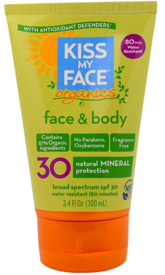 Face & Body NSF Mineral Sunscreen SPF30 3.4 oz from KISS MY FACE