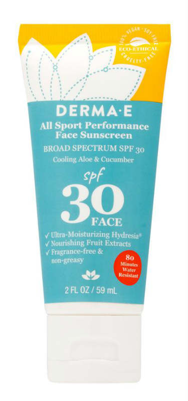 DERMA E.: All Sport Performance Face Sunscreen SPF 30 2 ounce
