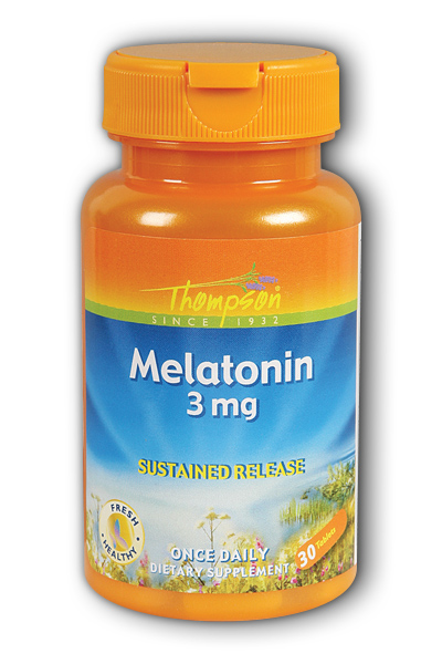Thompson Nutritional: Melatonin sustained release 3mg 30ct 3mg