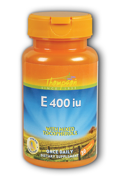Thompson Nutritional: E 400 with mixed Tocopherols 30ct 400IU