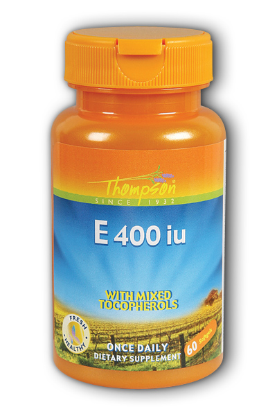 Thompson Nutritional: E 400 with mixed Tocopherols 60ct 400IU
