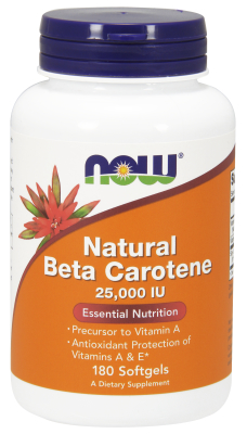 NAT BETA CAROTENE 25000  180 SGELS, 1