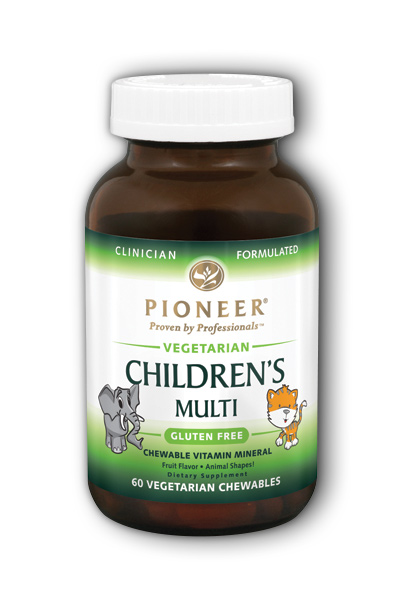 PIONEER: Childrens Chewable Vitamin and Mineral 60 Vegetarian Chewable