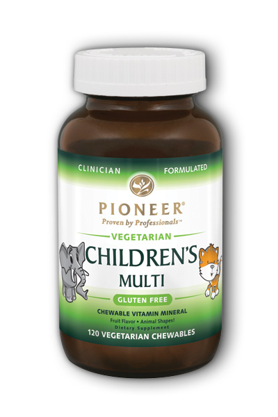 PIONEER: Childrens Chewable Vitamin and Mineral 120 Vegetarian Chewable