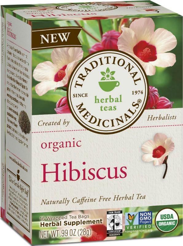 TRADITIONAL MEDICINALS TEAS: Hibiscus Tea 16 Bags