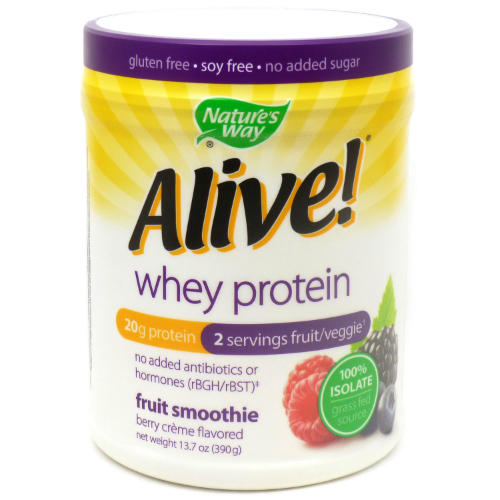 NATURE'S WAY: Alive Whey Protein Fruit Smoothie Berry Creme 13.7 oz