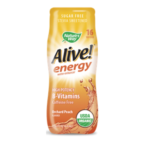 Alive Energy Max Organic Water Enhancer Orchard Peach