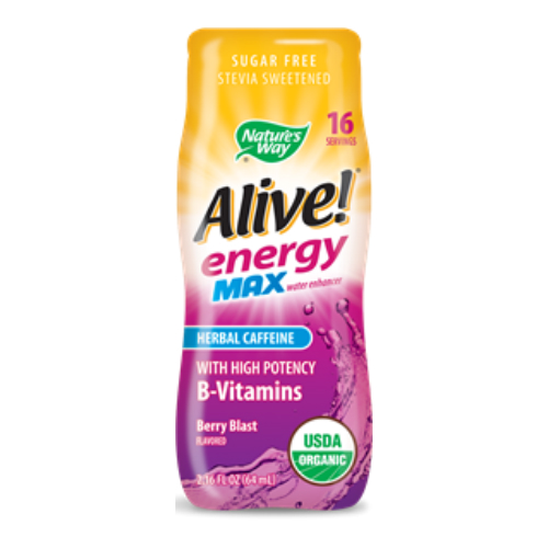 Alive Energy Max Organic Water Enhancer Berry Blast