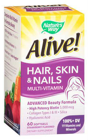 NATURE'S WAY: Alive! Hair Skin & Nail Gummy 60 ct