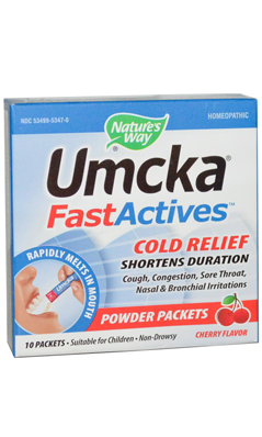 NATURE'S WAY: Umcka FastActives Cherry ColdCare 10 pkt