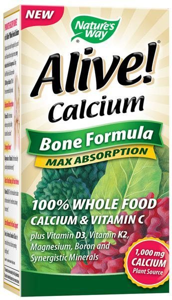 NATURE'S WAY: ALIVE CALCIUM 60 TABS