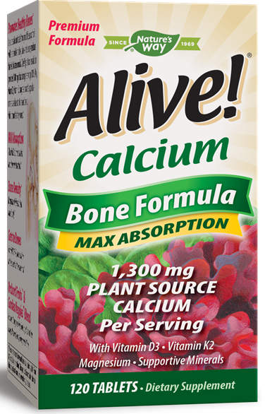 NATURE'S WAY: ALIVE CALCIUM 120 TABS